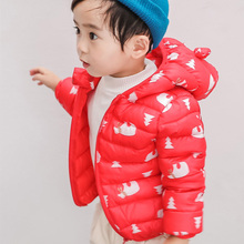1-6Year Cartoon Baby Girls Boys Parka Light Kids Jacket Hood Duck Down Coat Winter Children Jacket Spring Fall Toddler Outerwear 2017 winter boys cartoon hood coat jacket baby winter clothes