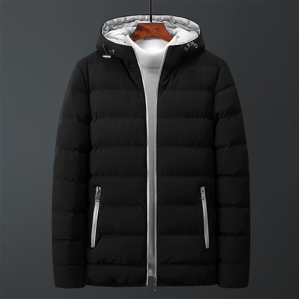 Men's Winter Parka 2020 Winter Keep Warm Casual Zipper Hoodie Park Cotton-padded Jacket Plus Size Coat Manteau Homme Hiver