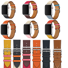 Genuine straps For Apple Watch Single Tour band series 3 2 1 Leather Loop iWatch 5 4 leather 38mm 42mm 40mm 44mm