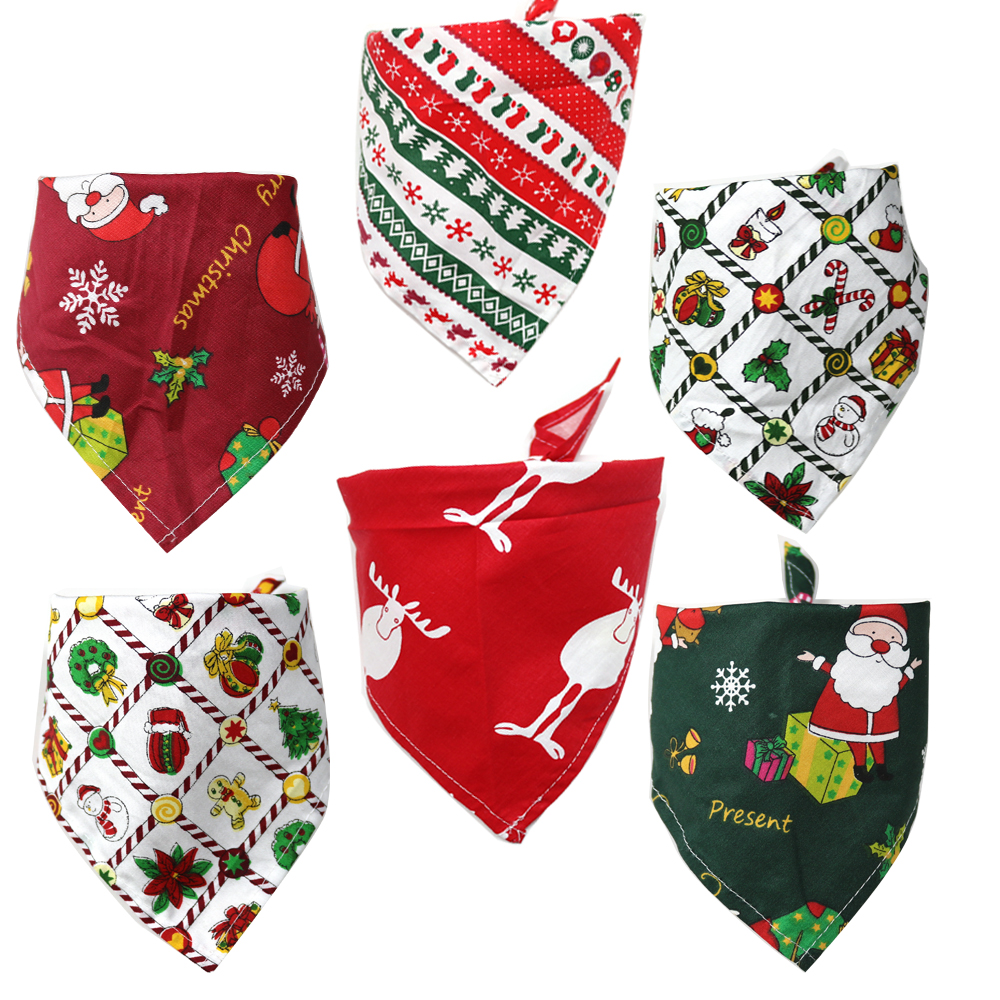 50pcs Christmas Pet Products Dog Bows Cat Dog Pet Bow Tie Bandana for Holiday Small Dog Grooming Accessories Large Dog Supplies in Dog Accessories from Home Garden