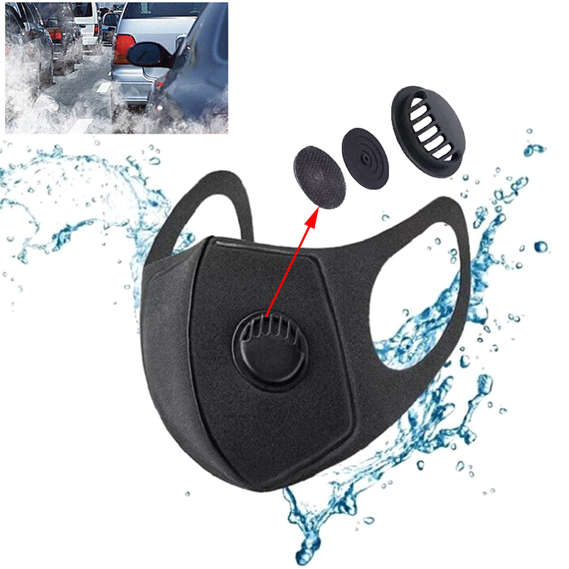 1PC PM2.5 Anti Haze Anti-dust Anti-fog Mask Activated Carbon Filter Respirator Mouth-muffle With Valve