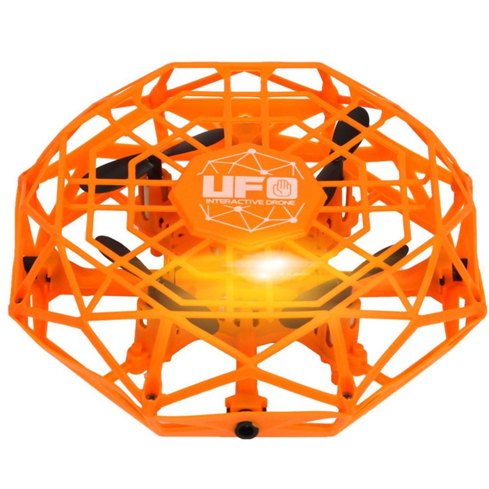 2019 NEW TL123 UFO Mini Drone Helicopter RC Quadcopter Sensing and Lights Indoor Toy Electronic Helicopter Toy Best Gift(China)