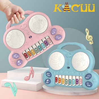 Baby Musical Instrument Toys Toddlers Portable Piano Developmental Music Early Learning Educational Toys For Children Gifts popular musical instrument keyboard toys portable baby kids animal farm music piano developmental toy children gifts