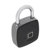 بصمة الاعتراف قفل الذكية بدون مفتاح للماء قفل حماية مكافحة سرقة الأقفال مع المصغّر usb كابل