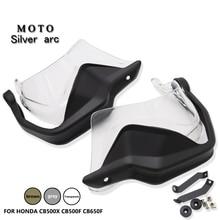 Motorcycle ABS plastic Hand Guards Brake Clutch Levers Protector Handguard Shield For HONDA CB500X CB500F CB650F 2013 2021 BLACK