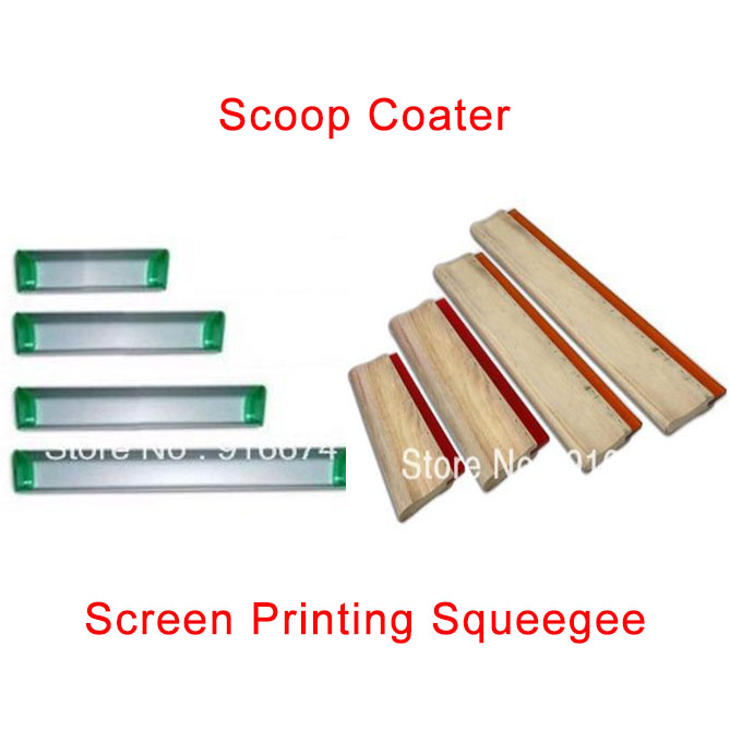 Cheap 1pc Silk Screen Printing Squeegee Ink Scraper Screen Printing Aluminum Emulsion Scoop Coater Tools