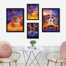 Top-Rated Canvas Print Coco Hot Cartoon Movie Art Painting Modern Decorative Silk Poster Wall Home Decor
