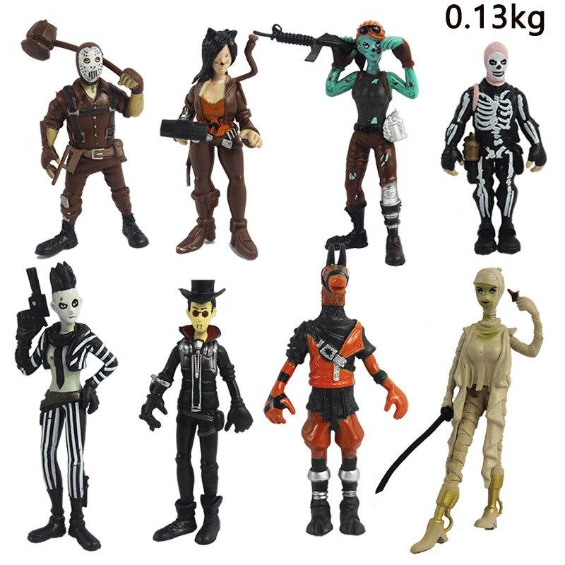 8 pcs/lot Battle Royale rare action figure model toy skull Trooper builder solider figure kids gift present