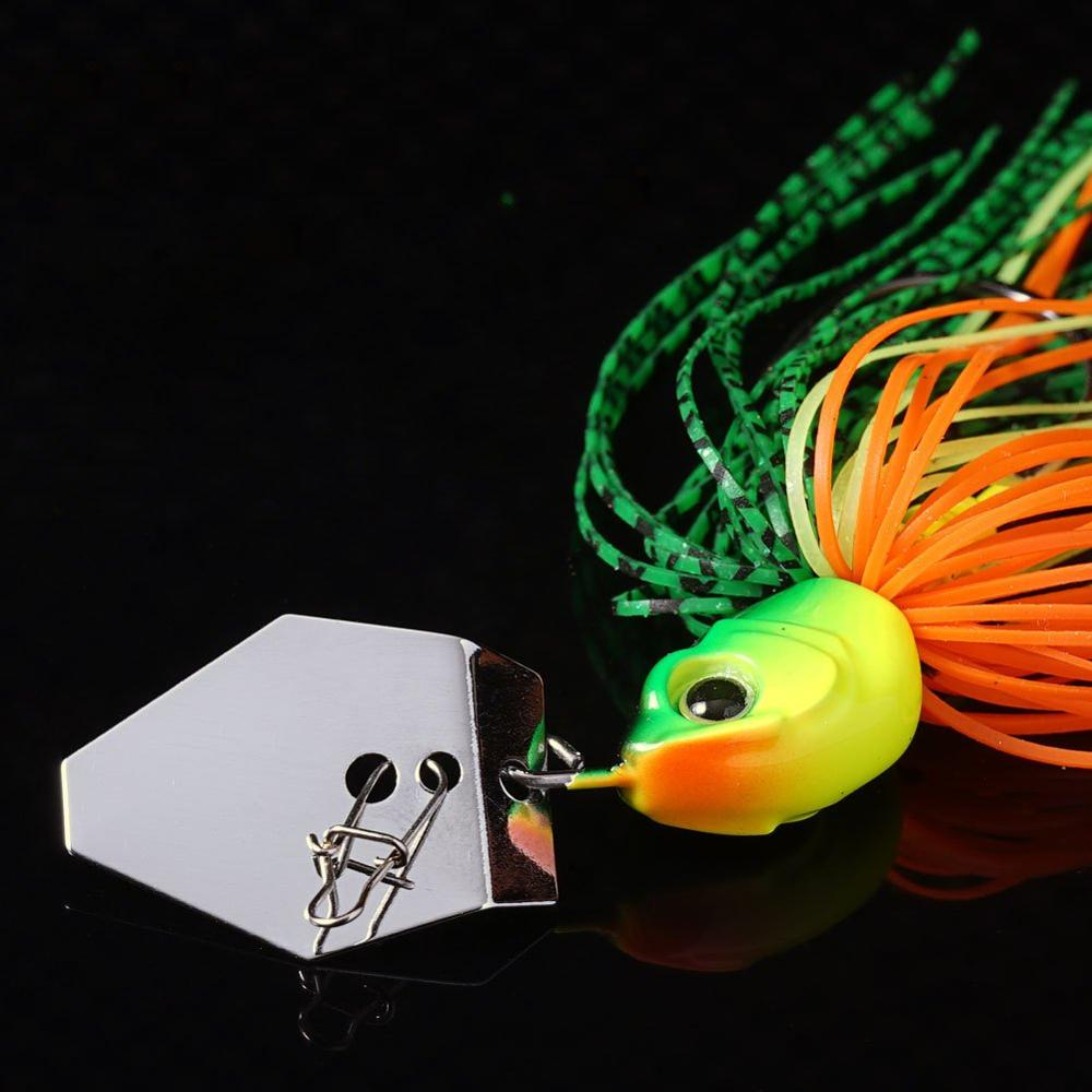 Original Micro Chatterbait 14g Chatter Bait Fishing Lure  Pike Bass Fishing Lure Buzz Bait Buzzbait-5