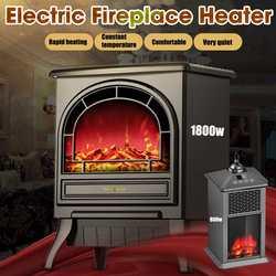 800 W/1800 W Elektrische Kamin Heizung Mini Tragbare Wärmer für Innen Heizung Haushalt Elektrische Heizung Einstellbar Thermostat