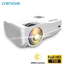 CRENOVA новейший светодиодный проектор с 1280*720P физическим разрешением Android 6,0 OS 3000 люмен Домашний кинотеатр видео проектор