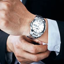 GUANQIN Automatic Mechanical Men Watch Tungsten Steel Lumino