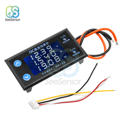 DC 0-200V 10A LCD Display Digital Voltmeter Ammeter Wattmeter Voltage Current Power Meter Volt Detector Tester 2000W