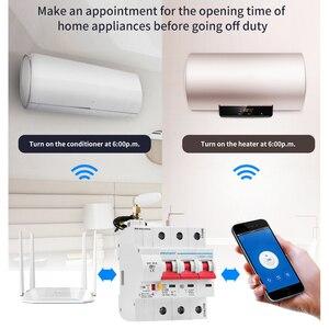 Image 2 - 3P WiFi akıllı devre kesici otomatik anahtarı aşırı yük kısa devre koruması Alexa ve Google ev için akıllı ev