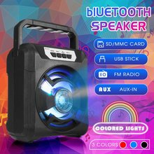 Portable bluetooth Speaker Waterproof Wireless Music Loudspeaker Stereo Bass Subwoofer Sound System Outdoor Support FM TF(China)