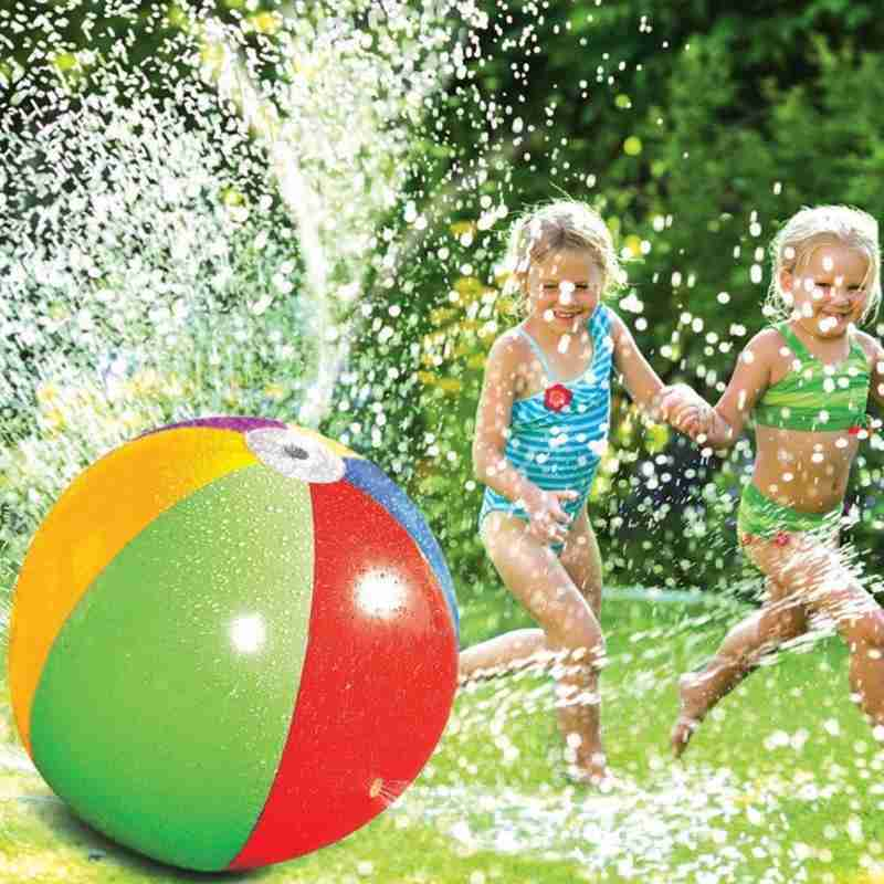 Outdoor Summer Inflatable Water Spray Ball Toy Fun Water Polo Lawn Inflatable Sprinkler Ball Swimming Pool Play Water Summer Toy