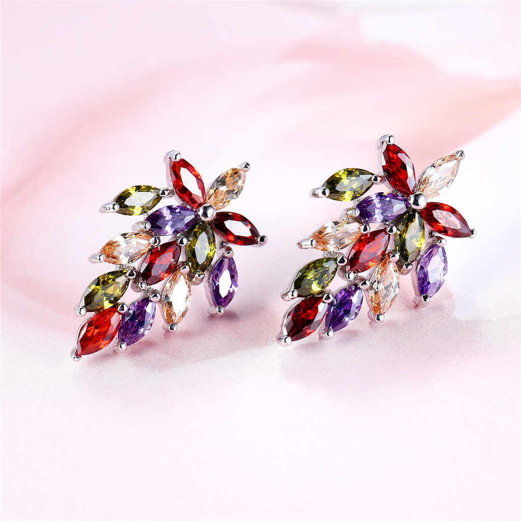 Mode Simple européen et américain boucles d'oreilles sauvage dames mode bijoux beaux accessoires pour intégrer des bijoux pour les filles # ZD