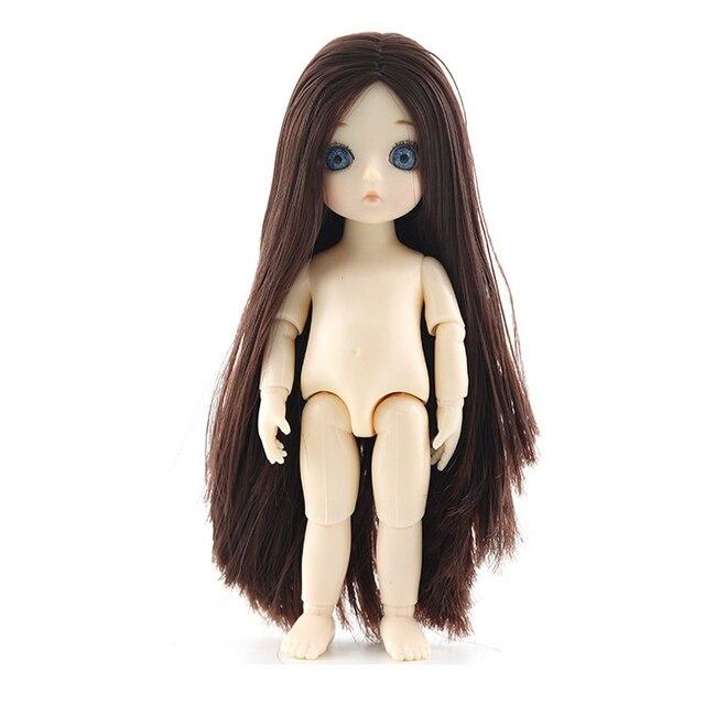 ¡Nuevo! 13 muñecas articuladas móviles Mini 16cm BJD Baby Girl Boy Doll Naked Cuerpo desnudo muñecas de moda juguete para niñas regalo