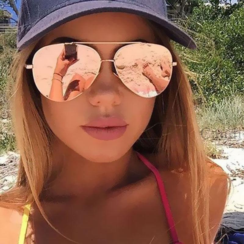 Mirror Sunglasses For Women 2021 Retro Glasses Women's Sunglasses Metal Points Polit Sun Glasses Lunettes femme oculos UV400