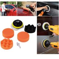 Newest 3inch Buffing Pad Polishing Kit Auto Car Polishing Pad Kit Buffer + Drill Adapter M10 For Glass beauty waxing TSLM1|Waxing Sponge| |  -
