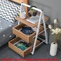Трехслойный простой креативный подвижный чайный столик  чайный столик для отдыха  треугольный дизайн  диван  боковый стол с колесом и ящико...