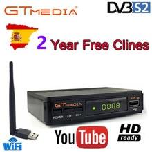 цена на Hot DVB-S2 Freesat V7 hd With USB WIFI FTA TV Receiver gtmedia v7s  power by freesat Support Europe cline CCCAM Network Sharing