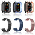 3in1 For Amazfit GTS Strap + TPU Case Cover For Huami Amazfit gts Smartwatch Screen Protector Film Bracelet Wrist Strap Band