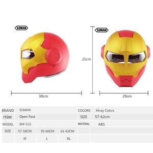 Image 5 - ソマンアイアンマンヘルメットフリップアップヘルメットeceロボットスタイルバイクcascoモンスターcasque dotの承認アイアンマンクールヘルメット