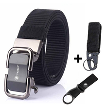 Belt AWMN for Jeans Pants Strap High-Quality Alloy-Buckle Canvas Nylon Young Male Automatic