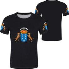 ISLAS CANARIAS Men's summer new brand Football Sportswear T-shirt santa cruz de tenerife t-shirt flag word las palmas gran Shirt