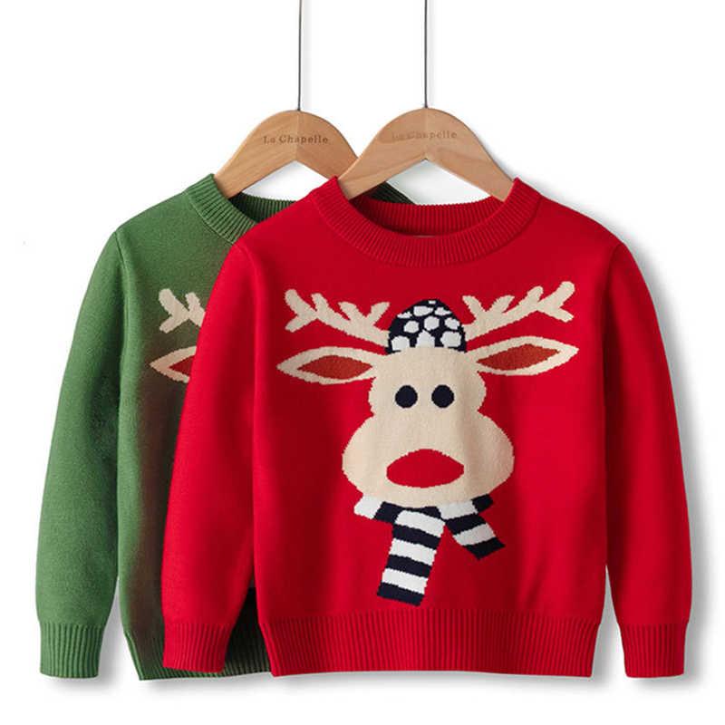 Baby Christmas Sweatshirt Toddler Girls Boys Sweater Pullover Long Sleeve Shirts Top Crewneck Blouse