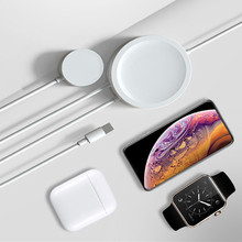 For AirPods QI Wireless Charging 3in1 2in1 Without Wired Wireless Charger Cable For Apple Watch iPhone X XR Airpods Watch 2 3