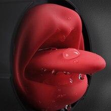 Male Masturbator Licking Tongue Masturbation Cup Sex Toy For Men Sex Realistic Vagina Vibrator Real Pussy Oral Aircraft Cup