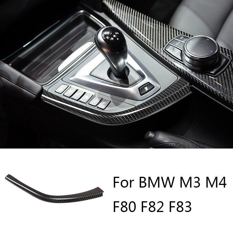 Автомобильная полоса переключения передач из углеродного волокна L-образной формы для BMW F80 F82 F83 M3 M4 2014-2018 LHD аксессуары