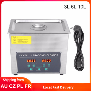 3/6/10L Double Frequency Digital Ultrasonic Cleaner Jewelry Glasses Watch Cleaning Machine Stainless Steel Bath Sonic Washer 800ml ultrasonic cleaner household cleaning machine for watch jewelry glasses false teeth ultra sonic cleaner bath tank