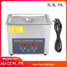 3L 6L 10L Ultrasonic Cleaner Digital Frequency Ultrasound Cleaning Machine Heated Timming Jewelry Glasses Ultra Sonic Washer