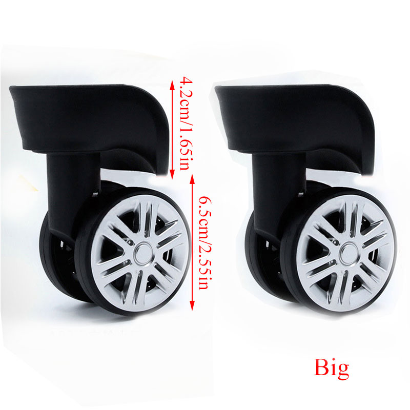 1Pair A08 Replacement Luggage Wheels For Suitcases Repair Hand Caster Wheels Parts Accessories Trolley Replacement Rubber Wheels