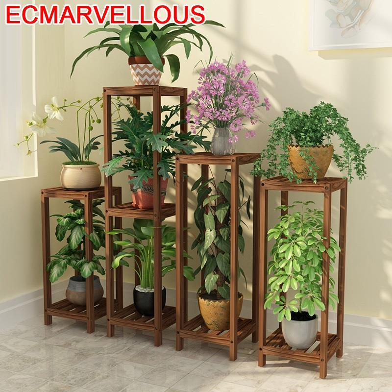 Indoor Ladder Estanteria Para Macetas Suporte Flores Wood Dekoration Stojak Na Kwiaty Rack Balcony Flower Shelf Plant Stand