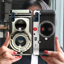 Retro color camera case FOR Samsung Galaxy Note 10 Plus Relief cover radio tape embossed Slam dunk Painting