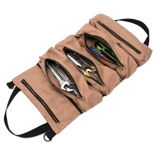 Storage Tool Bag Roll Up-type Canvas Tool Bag Hardware Storage Bag Household Repair Tool Bag  Metal Parts Organizer Y цены