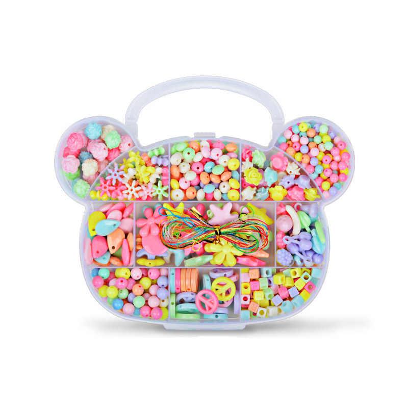 Детские браслеты для девочек Diy игрушки для детей ожерелье ручной работы Бисероплетение ювелирные изделия из акрилового бисера бисерный набор аксессуары игрушки