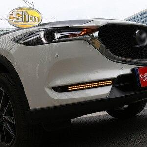 Image 5 - For Mazda CX 5 CX5 2017 2018 2019 Dynamic Turn Signal Relay Waterproof Car DRL 12V LED Daytime Running Light Fog Lamp Decoration
