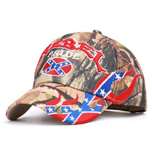 Go  Flag Embroidery Rebel Letter Baseball Caps The Wind Camouflage Outdoor Sports Cap