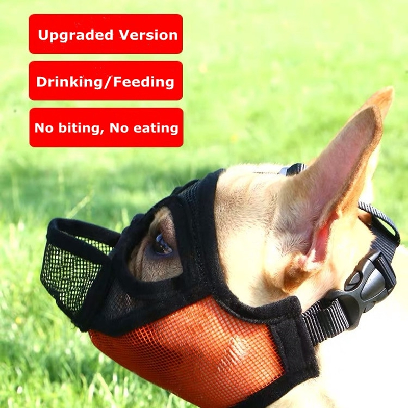 Breathable Mesh Short Snout Pet Dog Muzzle Adjustable French Bulldog Pug Mouth Mask Anti Bark Bite Chew Muzzles For Dogs JCL01 in Muzzles from Home Garden