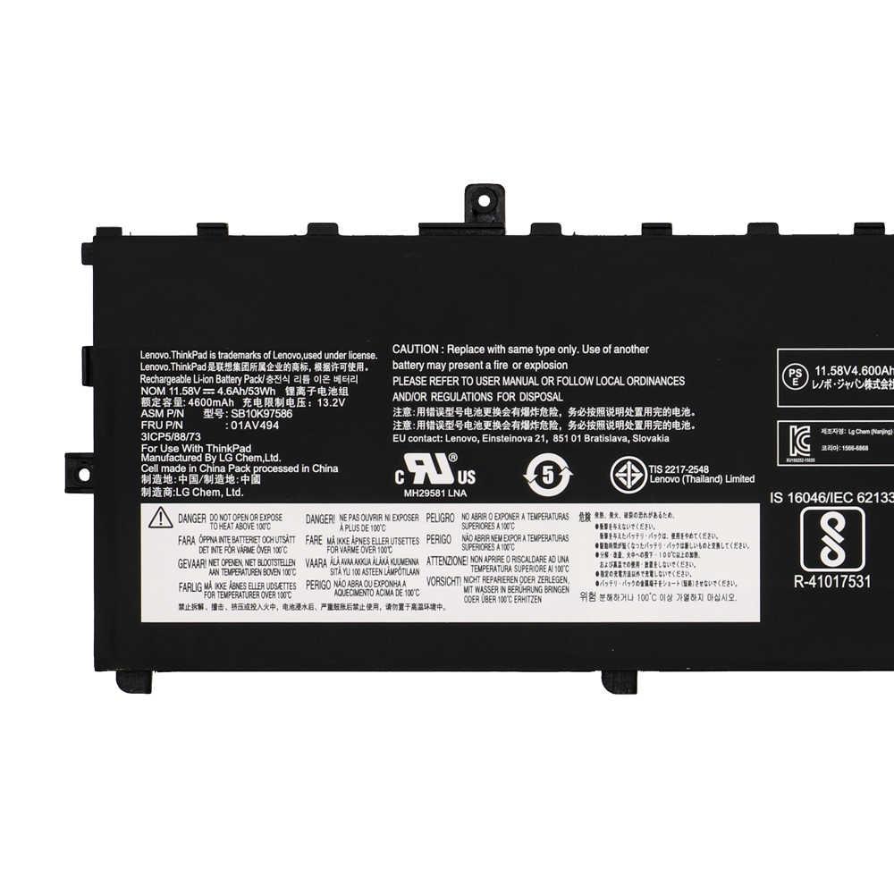 SHUOZB NUOVO 01AV494 Batteria Del Computer Portatile 01AV430 SB10K97586 per Lenovo ThinkPad X1 Carbonio 5th Gen 2017 6th 2018 Serie 01AV494 01AV429
