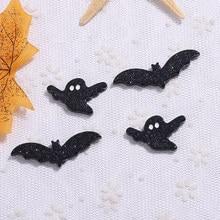 20 pçs glitter resina cabochons flatback dos desenhos animados bat ghost encantos para pingentes brincos diy chaveiro peças