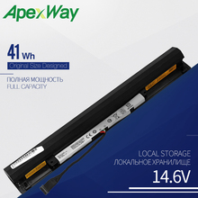 Apexway L15L4A01 Laptop battery for Lenovo Ideapad V4400 300-14IBR 300-15IBR 300-15ISK 100-14IBD 300-13ISK L15M4A01 41WH 14.6V