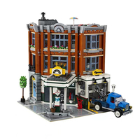 2569Pcs Corner Garage Set Assemblage Series Building Blocks Bricks Kids Toys Collectable Gifts In stock