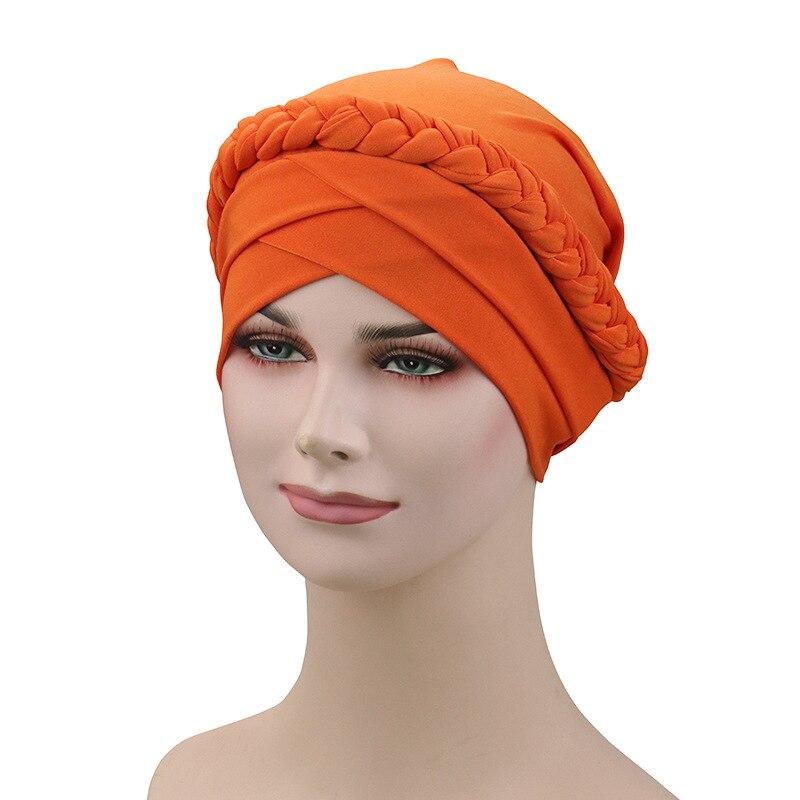 muslim caps hat braid covers headband wear wraps shawls hijab multifuncional turban braided