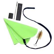 5Pcs Cleaning Set For Saxophone Clarinet Flute Incl Mouthpiece Brush Cleaning Cloth Thumb Pad Reed Case Mini Screwdriver New yibuy black nickel plated 17 key bb clarinet with cleaning cloth gloves case